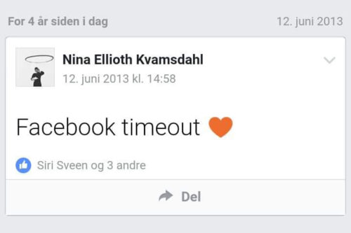 timeout fra Facebook